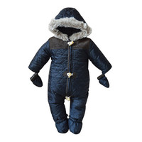 winter baby boy snowsuit romper toddler cotton one-piece suit romper baby infant winter warm hoody jumpsuit coverall for newborn