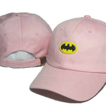 Pink Batman Embroidered Baseball Cap Hat