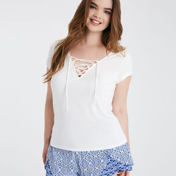 Plus Size Twin Print Tulip Shorts | Wet Seal Plus