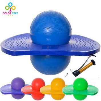Fun Exercise Children Educational Toy Balance Ball Fitness Toy Bouncing Yoga Ball Children Adult+Pump And Needle