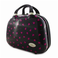 Black/Pink Glitzy Hearts Travel Case - Perfect Gift