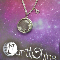 Grey Agate Moon necklace