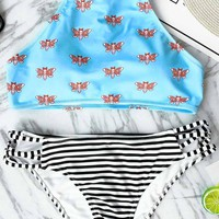 Cupshe Lovely Girl Print Bikini Set