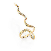 Jacquie Aiche - Diamond & 14K Yellow Gold Jasmine Snake Ring - Saks Fifth Avenue Mobile