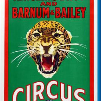 """Ringling Bros. Circus Leopard Poster 16""""x24"""""""