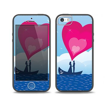 The Love-Sail Heart Trip Skin Set for the iPhone 5-5s Skech Glow Case