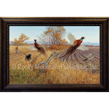 A Good Day Afield – Framed Giclee Canvas by Hayden Lambson