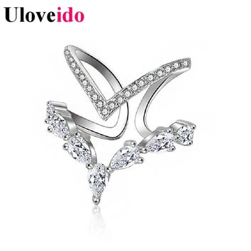 15% Off Uloveido Wedding Rings for Women Bijouterie Adjustable Vintage Finger Ring Sale Anillos Mujer Anel Masculino Punk JZ157