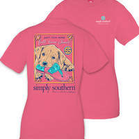 Simply Southern Part Time Sassy Tee - Strawberry