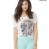 Real Sass V-Neck Graphic T