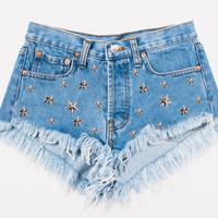 Gwen Star Studded Cheeky Stone Shorts - Limited