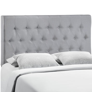 Clique Fabric Tufted Queen Headboard