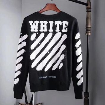 OFF WHITE Classic Print Fashion Top Sweater Pullover