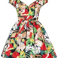 Vintage Pinup Girl Dress