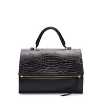 LEATHER CITYBAG WITH ZIP - Handbags - Woman | ZARA United States
