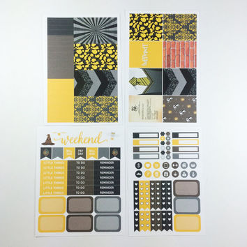 ECLP   Harry Potter   Hufflepuff House Weekly Kit   140 stickers