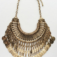 Ancient Mesopotamian Gold Coin Necklace