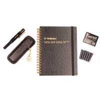 Kaweco Black & Gold Fountain Pen Medium Nib Writing Set