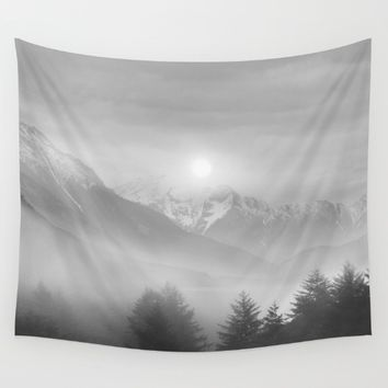 Pastel vibes 11 Black and White Wall Tapestry by Viviana Gonzalez