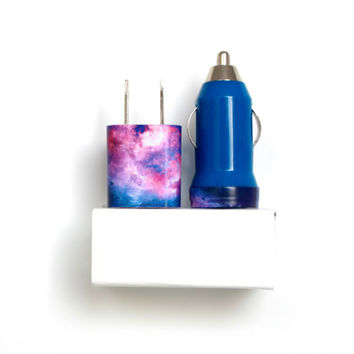 Purple Galaxy iPhone Charger | Phone Accessory | cord | cable | portable charger mobile car charger | for iPhone 6 | 6s | iPhone 5 | 5s | 5c
