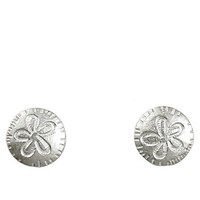 Dogeared Its The Little Things Sand Dollar Stud Earrings