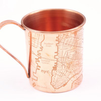 Copper Mug - NYC Map