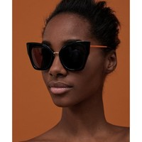 OVERSIZED CAT'S EYE SUNGLASSES DETAILS