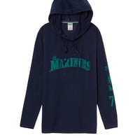 Seattle Mariners Campus Hoodie Tee - PINK - Victoria's Secret