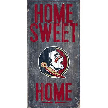 """Florida State Seminoles Wood Sign Home Sweet Home 6""""x12"""""""