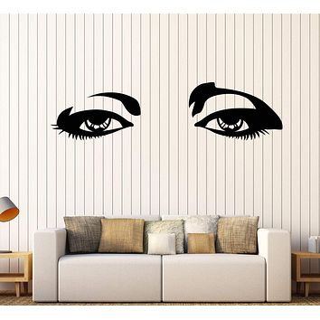 Wall Stickers Vinyl Decal Beautiful Female Woman Girl Teen Eyes Unique Gift (z2017)