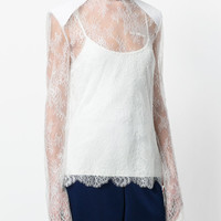 Off-White High Neck Lace Top - Farfetch