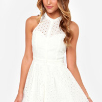 The Eyelets Have It Ivory Lace Dress