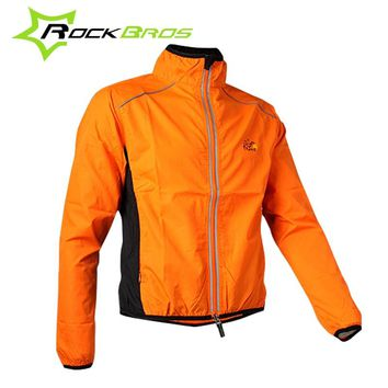 ROCKBROS Windbreaker Men Cycling Jacket Windproof Reflective Bike Jackets Women Jacket  Waterproof Moto clothing raincoat outfit