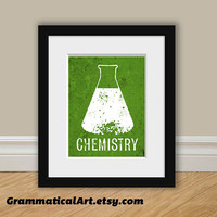 Chemistry Beaker Print - Perfect Science Gift for Your Favorite Scientist, Chemist, Teacher, Friend
