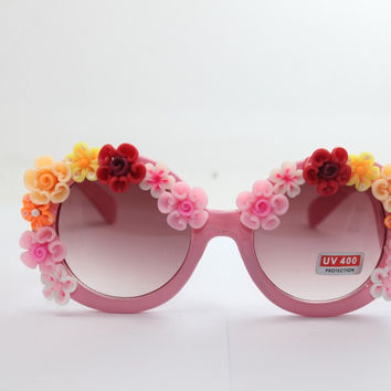 Handcrafts Summer Vacation Beach Rose Sunglasses Floral Mirror [4920240900]