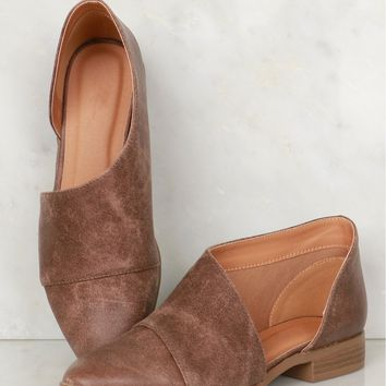 Oil Finish Open Ankle Booties Nutmeg