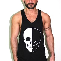 Alien Skull Tunic Tank- Black