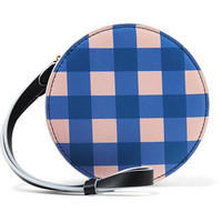Diane von Furstenberg - Circle gingham leather pouch