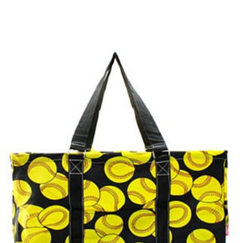 Utility Tote Large - Softball Print