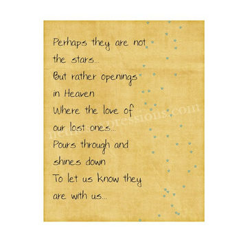 Perhaps they are not stars…But rather openings in Heaven – 8×10 Inspirational Art Print