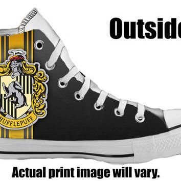 Harry Potter Hufflepuff Custom Converse All Stars