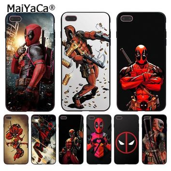 MaiYaCa Deadpool Marvel Wade Winston Wilson Coque phone Case for Apple iPhone 8 7 6 6S Plus X 5 5S SE 5C Cover