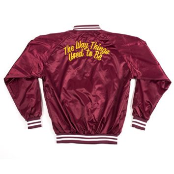 The Way Things Used To Be Baseball Jacket - Maroon