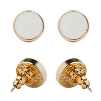 American Apparel - White Large Round Post Earrings