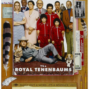 Royal Tenenbaums Family Wes Anderson Movie Poster 11x17