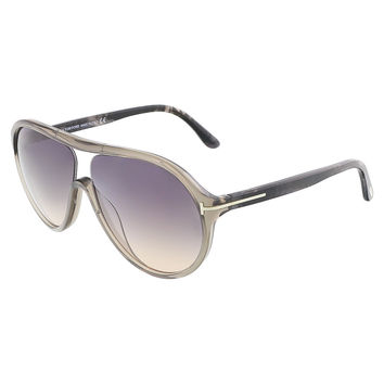Tom Ford Grey Crystal Oval Sunglasses