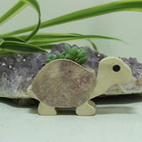 Turtle Micro Mini planter for Air Plants or succulents Miniature planter purple