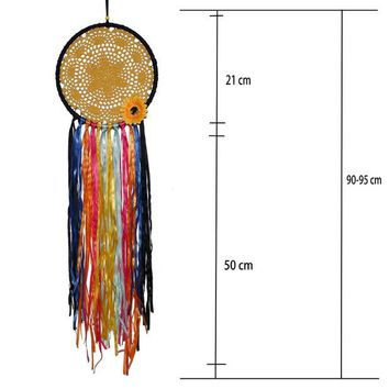 LMFQFN Original Bohemian style color dream catcher ornaments Home wall decorations creative sun