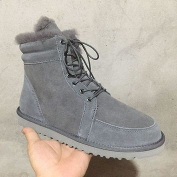 UGG N097 Tall Women Men Fashion Casual Wool Winter Snow Boots Grey
