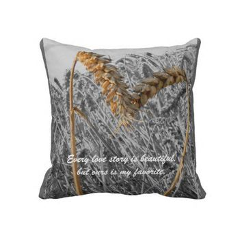 Every Love Story is Beautiful -Love Quote Throw Pi Pillows from Zazzle.com